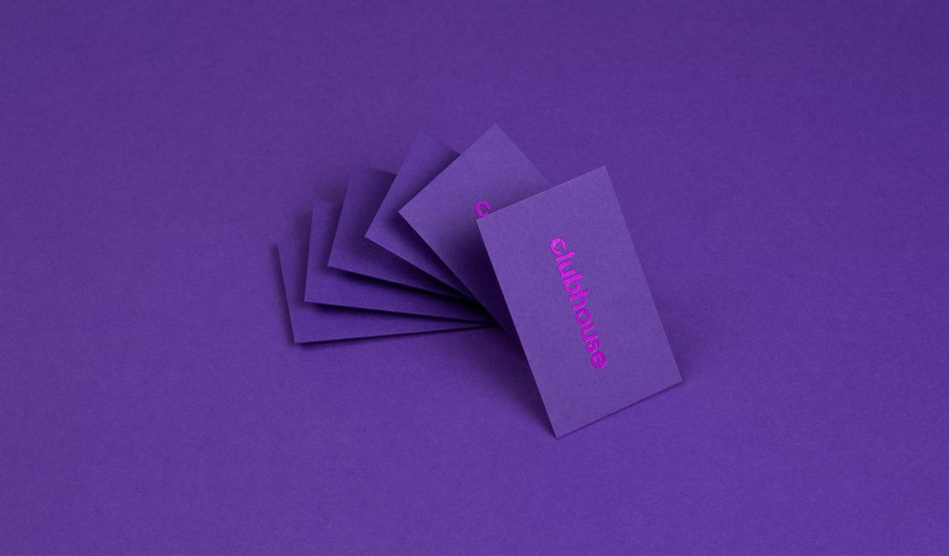 Clubhouse business cards