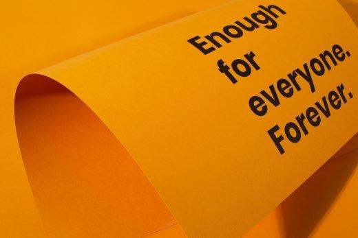 Enough for everyone. Forever. Circular Hub poster