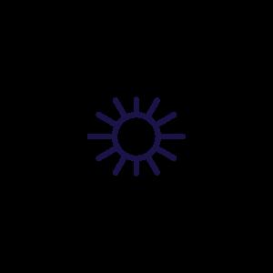 indinature sun icon