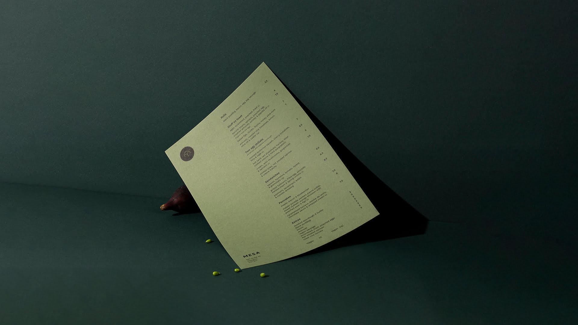 Mesa menu