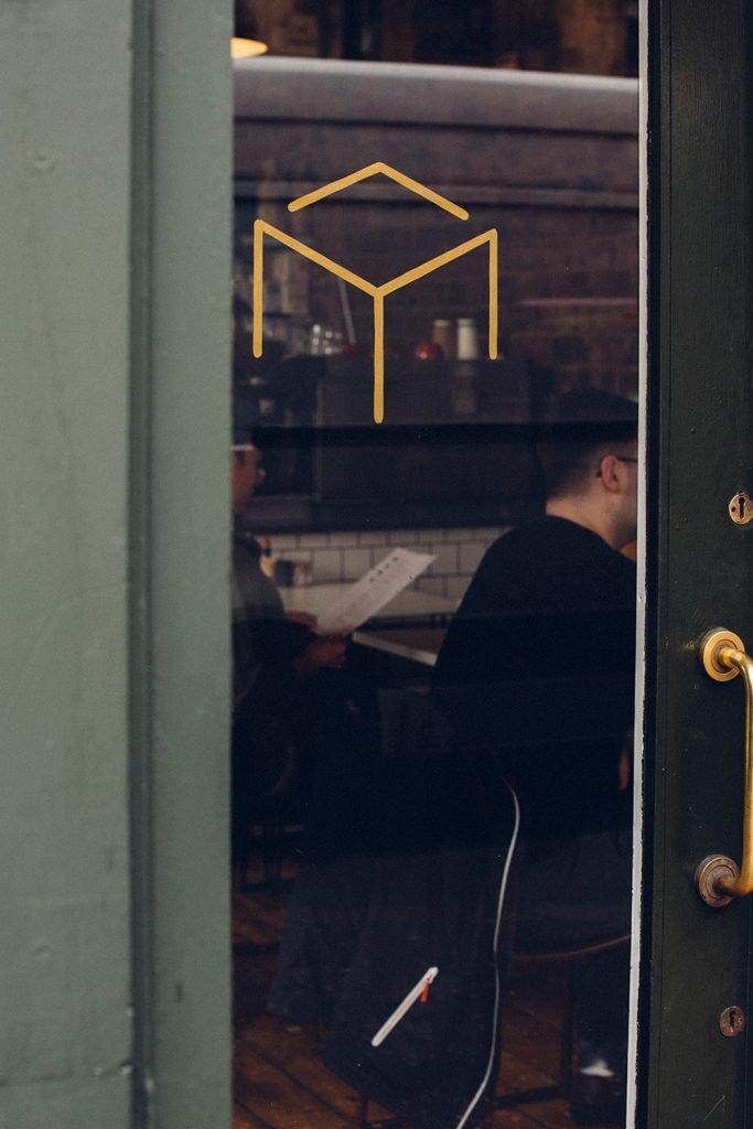 Mesa - logo on door
