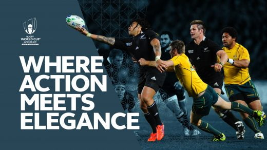 Rugby World Cup 2019 Campaign image and copy