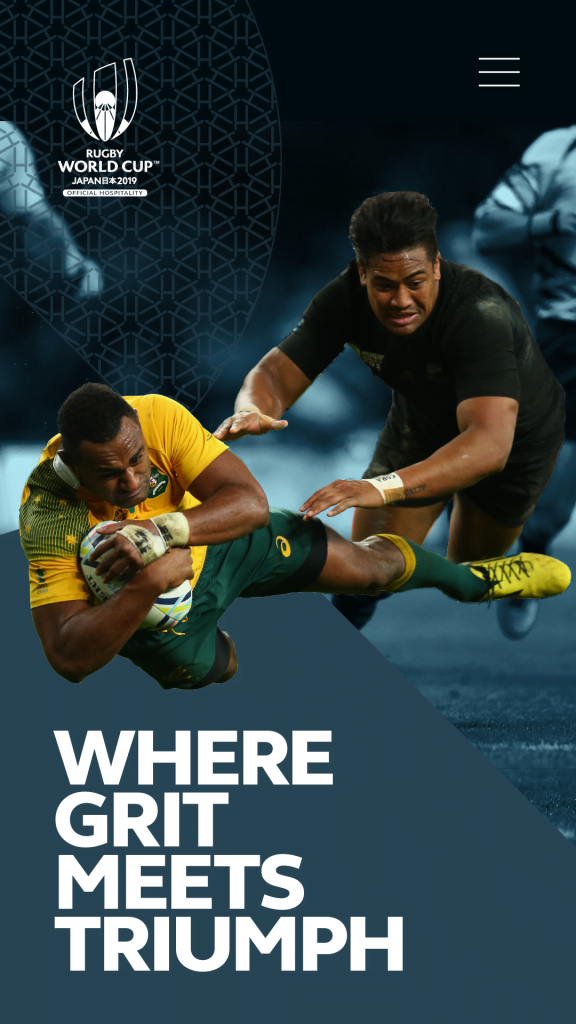 Rugby World Cup 2019 mobile site