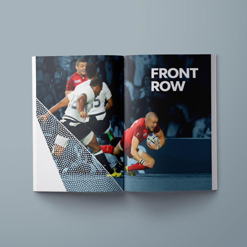 rugby world cup brochure spread