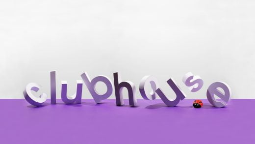 Clubhouse logo 3d