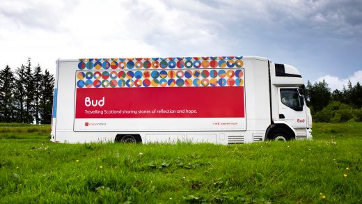 Bud truck with full brand showcasing personalised brand icons