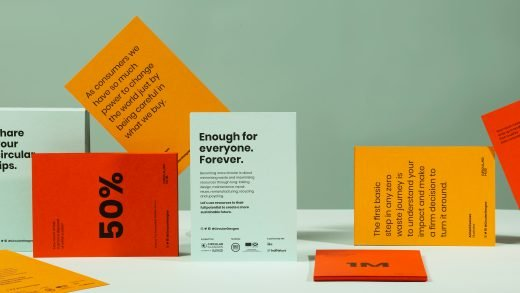 Circular hub print collateral - flyers, sustainable facts and tips