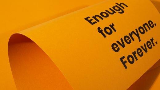Enough for everyone forever - Circular Hub poster