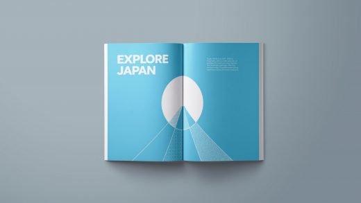 Rugby World Cup 2019 Brochure spread editorial design