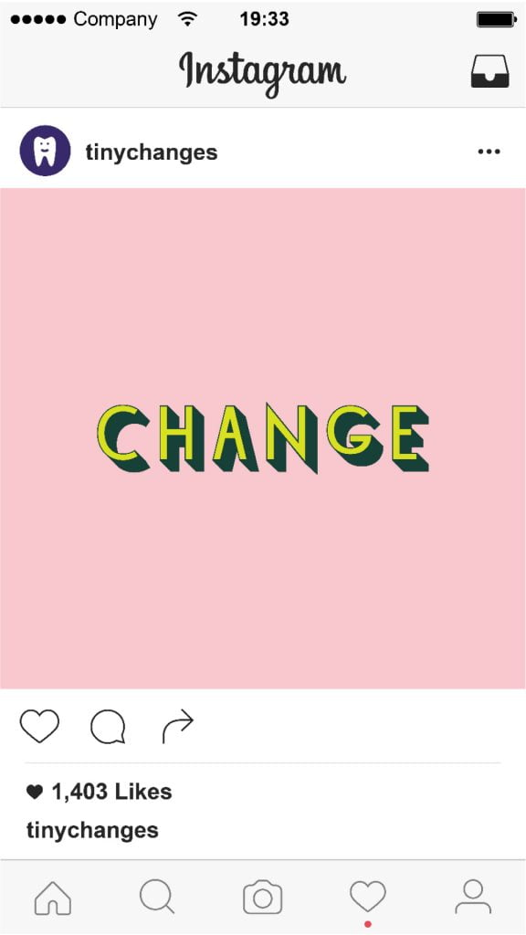 tiny changes social media change